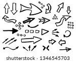 vector arrows handmade set | Shutterstock .eps vector #1346545703