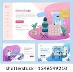 set of web page design... | Shutterstock .eps vector #1346549210