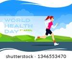 world health day flat vectoral... | Shutterstock .eps vector #1346553470