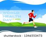world health day flat vectoral... | Shutterstock .eps vector #1346553473