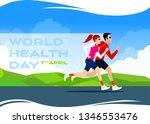 world health day flat vectoral... | Shutterstock .eps vector #1346553476