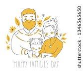 happy family s day. cartoon... | Shutterstock .eps vector #1346565650