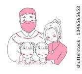 happy family s day. cartoon... | Shutterstock .eps vector #1346565653