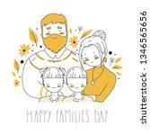 happy family s day. cartoon... | Shutterstock .eps vector #1346565656