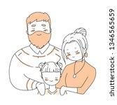 happy family s day. cartoon... | Shutterstock .eps vector #1346565659