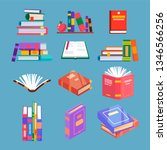 set of isolated reading book... | Shutterstock .eps vector #1346566256