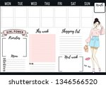 girl boss weekly and daily... | Shutterstock .eps vector #1346566520
