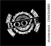 booze with chalkboard texture | Shutterstock .eps vector #1346566880