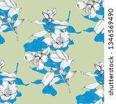 vintage flowers sketch graphic... | Shutterstock . vector #1346569490
