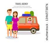 travel agency square banner... | Shutterstock .eps vector #1346573876