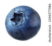 blueberry isolated on white... | Shutterstock . vector #1346577086