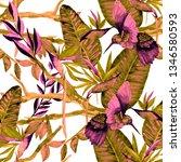 watercolor seamless pattern... | Shutterstock . vector #1346580593