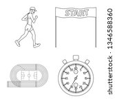 vector illustration of exercise ... | Shutterstock .eps vector #1346588360