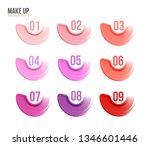 make up set. brush stroke... | Shutterstock .eps vector #1346601446