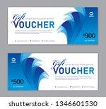 blue gift voucher template ... | Shutterstock .eps vector #1346601530