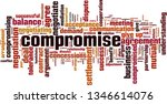 compromise word cloud concept.... | Shutterstock .eps vector #1346614076