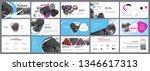 presentation template. blue... | Shutterstock .eps vector #1346617313