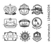 travel badges set | Shutterstock .eps vector #134662034