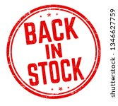 back in stock sign or stamp on... | Shutterstock .eps vector #1346627759