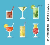alcohol drinks and cocktails... | Shutterstock .eps vector #1346641229
