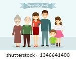 big family together. vector... | Shutterstock .eps vector #1346641400