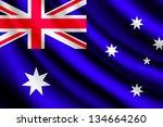 waving flag of australia | Shutterstock . vector #134664260