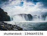 Godafoss Waterfall In Iceland...