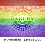bakery emblem on mosaic... | Shutterstock .eps vector #1346651720
