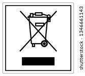 No Waste Symbol Sign  Vector...
