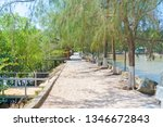 walking path on bai thom beach. ... | Shutterstock . vector #1346672843