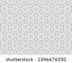 ornament with elements of black ... | Shutterstock . vector #1346676350
