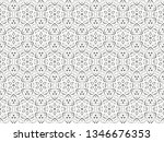 ornament with elements of black ... | Shutterstock . vector #1346676353