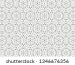ornament with elements of black ... | Shutterstock . vector #1346676356