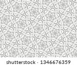 ornament with elements of black ... | Shutterstock . vector #1346676359