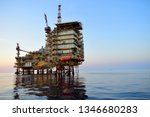 asia oil and gas offshore... | Shutterstock . vector #1346680283