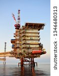 asia oil and gas offshore... | Shutterstock . vector #1346680313