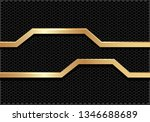 abstract gold line polygon... | Shutterstock .eps vector #1346688689