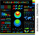 colorful infographics set on... | Shutterstock .eps vector #134669456