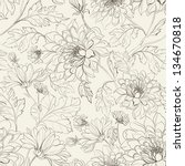 seamless floral pattern with... | Shutterstock .eps vector #134670818