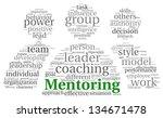 mentoring and teamwork concept... | Shutterstock . vector #134671478