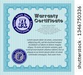 light blue formal warranty...   Shutterstock .eps vector #1346750336