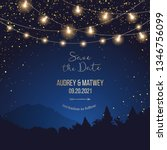 magic night wedding lights... | Shutterstock .eps vector #1346756099