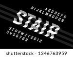 stepped style font  alphabet... | Shutterstock .eps vector #1346763959