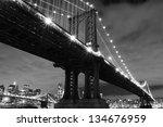 Manhattan Bridge And Skyline At ...