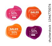 banner for sales product. | Shutterstock .eps vector #1346770076