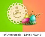 easter multicolored composition ... | Shutterstock .eps vector #1346776343