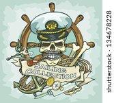captain skull logo design  ...   Shutterstock .eps vector #134678228