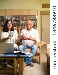 senior indian asian couple... | Shutterstock . vector #1346788910
