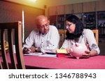 senior indian asian couple... | Shutterstock . vector #1346788943