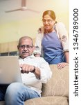 senior indian asian couple... | Shutterstock . vector #1346789000
